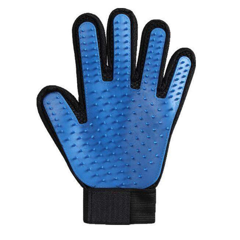 trendyholo.com 1 left hand / Blue Pet Grooming Deshedding Brush Glove (for Cats/Dogs)