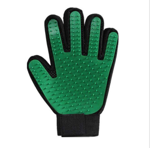 trendyholo.com 1 left hand / Green Pet Grooming Deshedding Brush Glove (for Cats/Dogs)