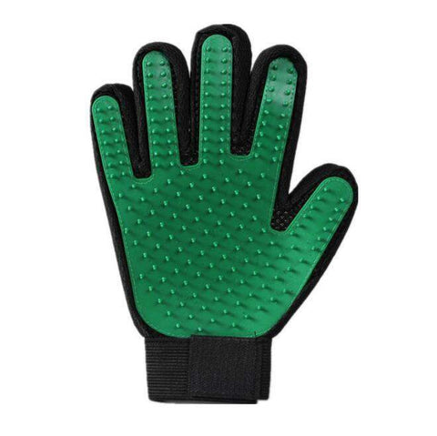 trendyholo.com 1 right hand / Green Pet Grooming Deshedding Brush Glove (for Cats/Dogs)