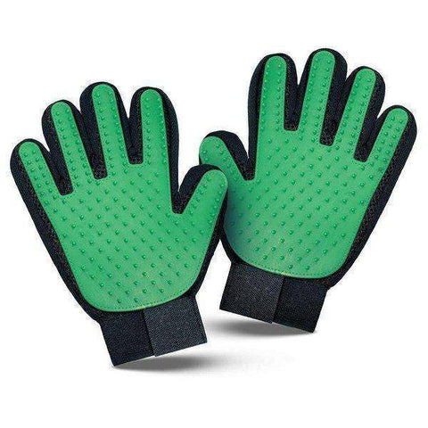 trendyholo.com 1 pair / Green Pet Grooming Deshedding Brush Glove (for Cats/Dogs)