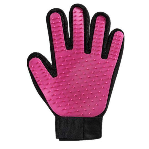 trendyholo.com 1 left hand / Pink Pet Grooming Deshedding Brush Glove (for Cats/Dogs)