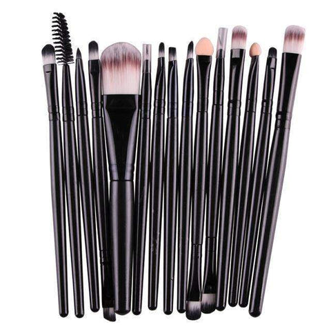 Image of trendyholo.com Health & Beauty Black Professional Complete Set of 15 Brushes