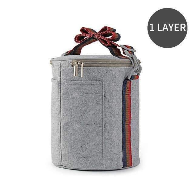 trendyholo.com 1 Layer Bag Stainless Steel Compartment Lunch Box