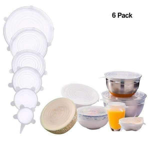 trendyholo.com Transparent Stretch & Fit - Silicone Stretch Lids (6pcs)