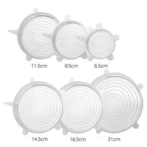 Image of trendyholo.com Transparent Stretch & Fit - Silicone Stretch Lids (6pcs)