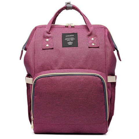 trendyholo.com Dark Wine Red The Ultimate Mommy Diaper Bag