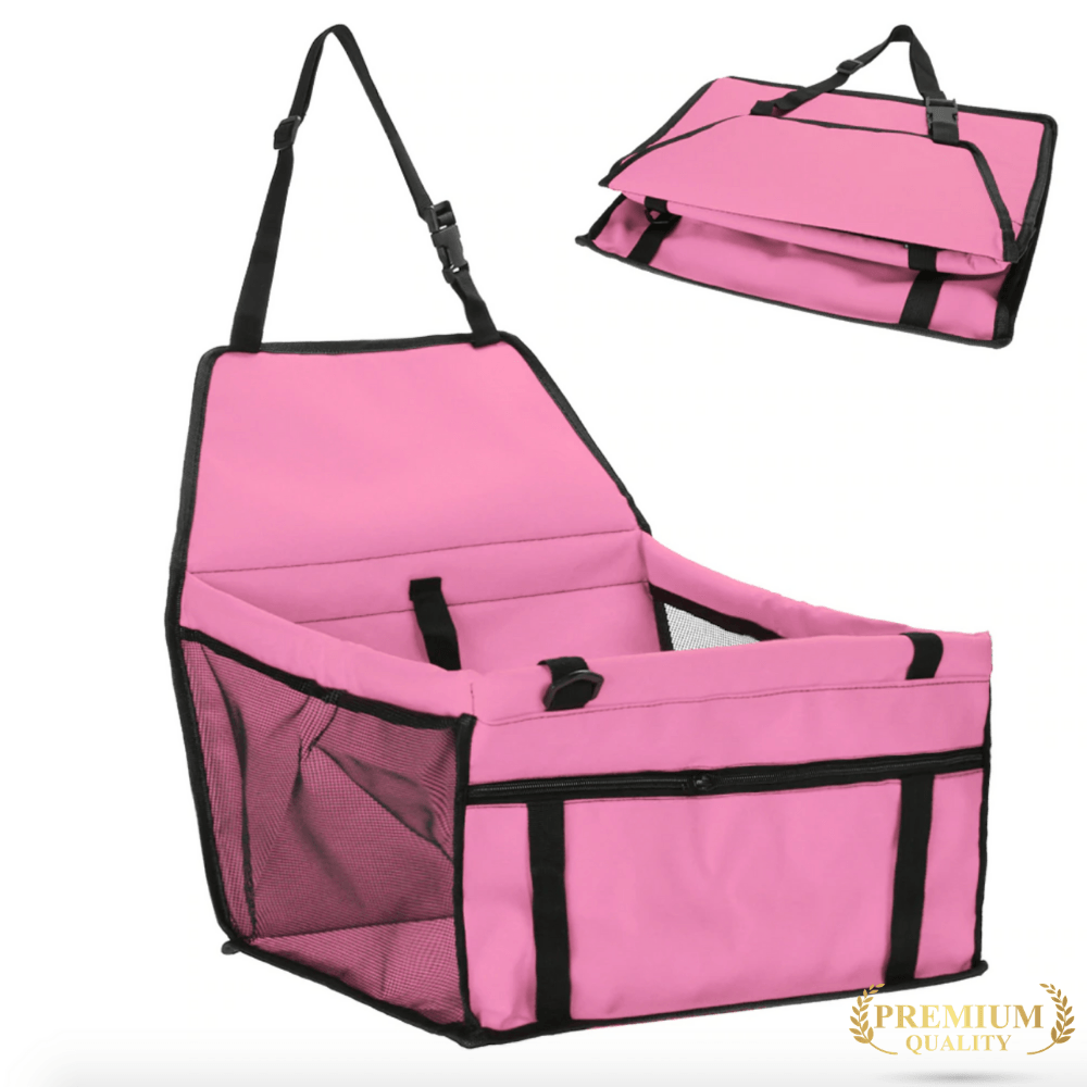 Trendy Holo pet Pink Waterproof Dog Car Seat | Holiday Sale  FINAL HOURS !