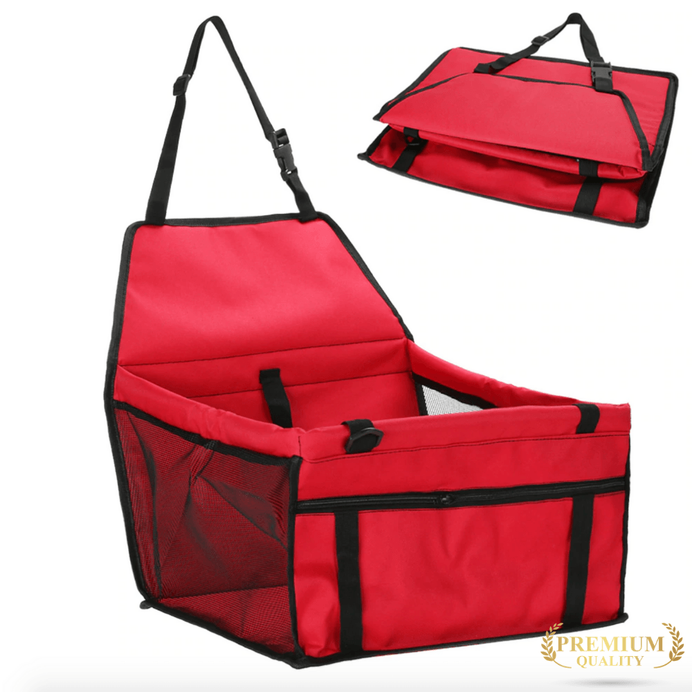 Trendy Holo pet Red Waterproof Dog Car Seat | Holiday Sale  FINAL HOURS !