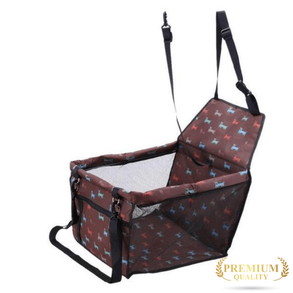Trendy Holo pet Brown (Premium) Waterproof Dog Car Seat | Holiday Sale  FINAL HOURS !