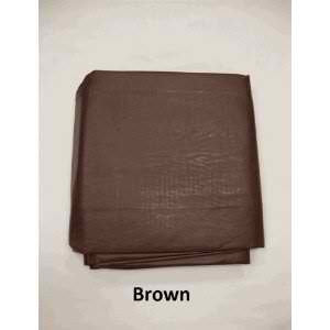 7' Brown Fitted Pool Table Cover