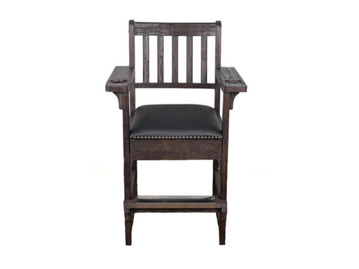 Charcoal Brown Spectator Chair With Drawer