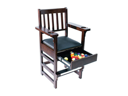 Espresso Spectator Chair With Drawer