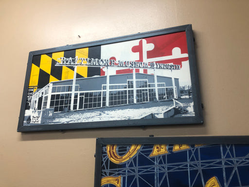 Baltimore Museum of Industry Maryland Flag Steel Frame Wall Art