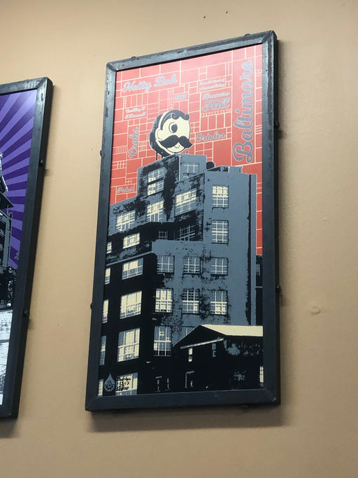 Natty Boh Tower Steel Frame Sign