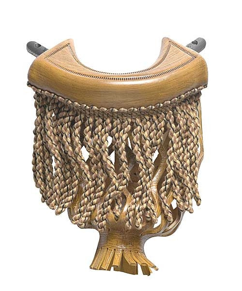 Leather Fringe Pocket in Oak