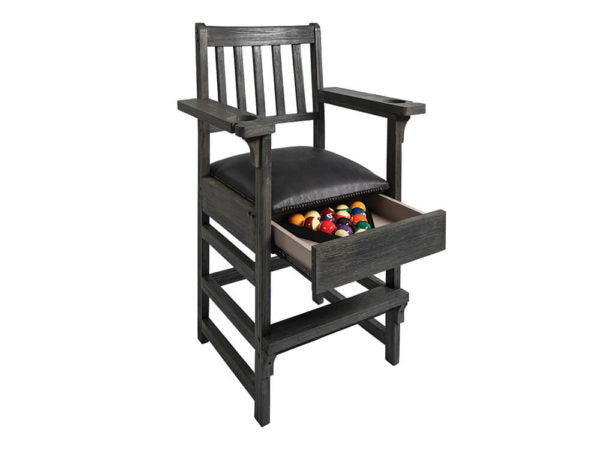 Slate Grey Spectator Chair With Drawer