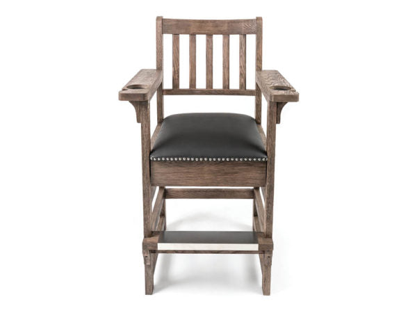 Weathered Oak Spectator Chair With Drawer