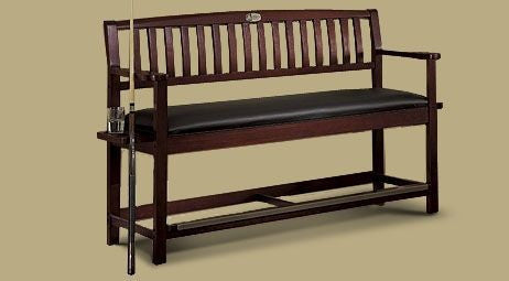 Legacy Classic Backed Storage Bench Black Cherry