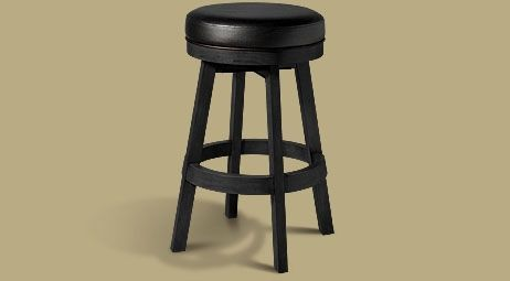 Legacy Classic Backless Stool  Onyx