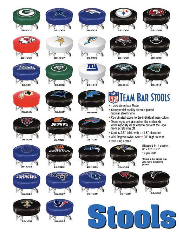 Nfl Team Bar Stool Chesapeake Billiards