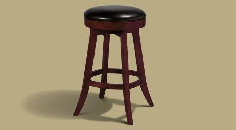Legacy Sterling Backless Stool Black Cherry