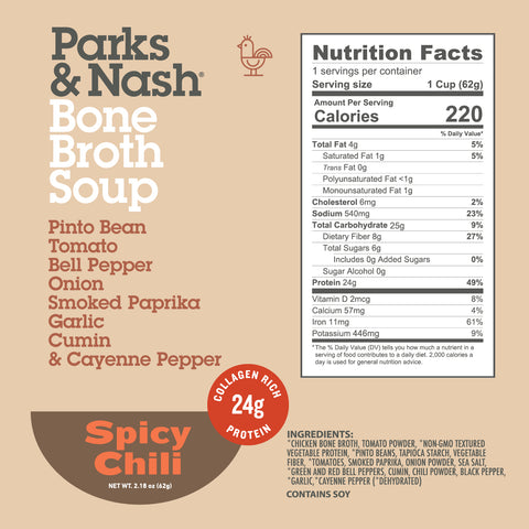 Spicy Chili Bone Broth Soup - 6 or 12 pack