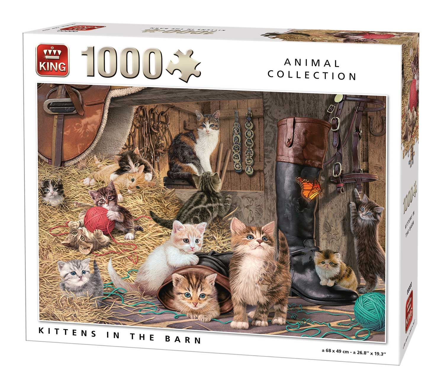 King Kittens In The Barn Jigsaw Puzzle (1000 Pieces)