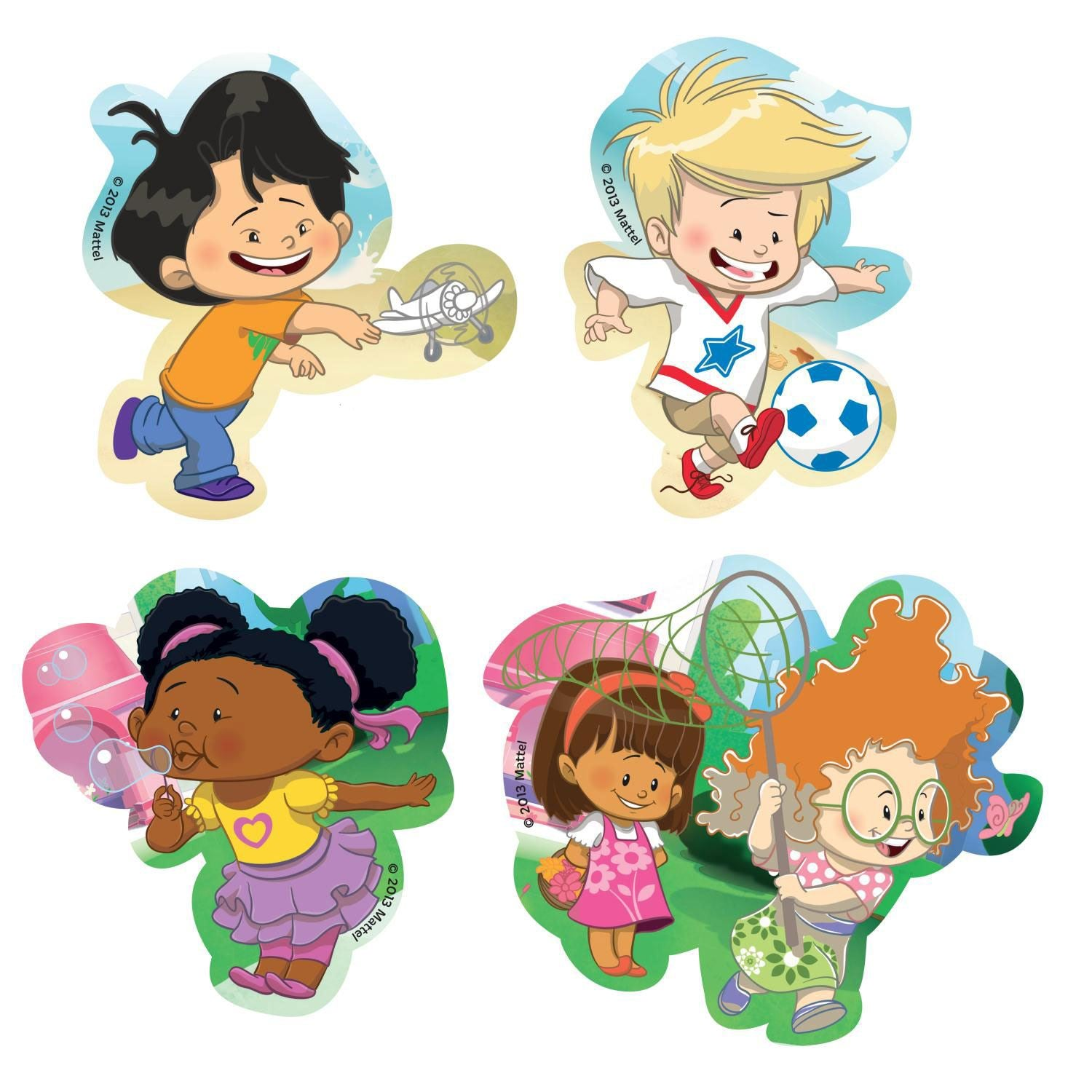 Fisher Price Little People 4 Bath Puzzles (2 - 4 Pieces)