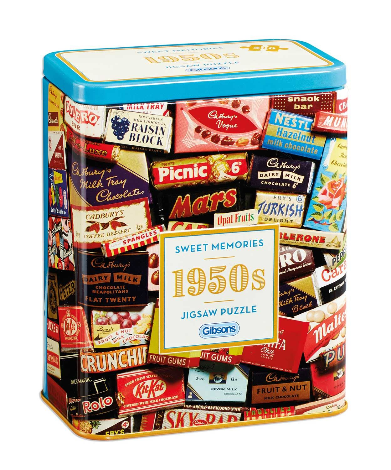 Gibsons 1950s Sweet Memories  Jigsaw Puzzle in Gift Tin (500 pieces)