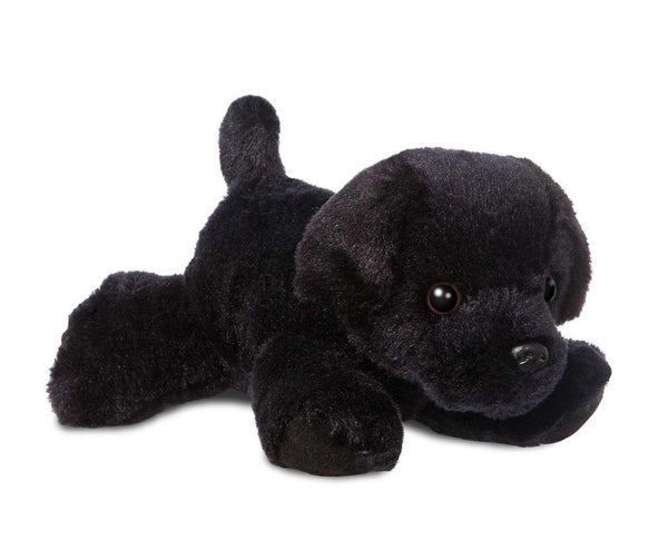 Aurora Mini Flopsies Black Labrador Dog Soft Toy 20cm