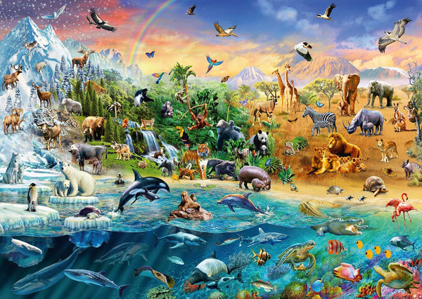 Schmidt Animal Kingdom Jigsaw Puzzle (1000 Pieces)