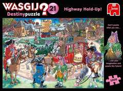 Wasgij Destiny 21 Highway Hold Up! Jigsaw Puzzle (1000 pieces)