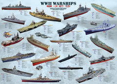 Eurographics World War II Warships Jigsaw Puzzle (500 XL Large Pieces)