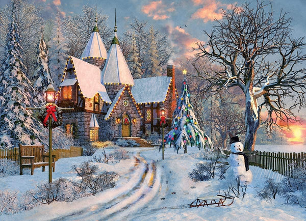 Eurographics Christmas Cottage Jigsaw Puzzle (1000 Pieces)