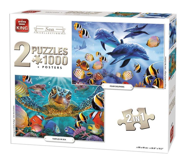 King Sealife 2-In-1 Compendium  Jigsaw Puzzle (1000 Pieces)
