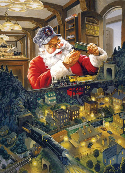 Cobble Hill Santa's Railway Jigsaw Puzzle (500 Pieces)
