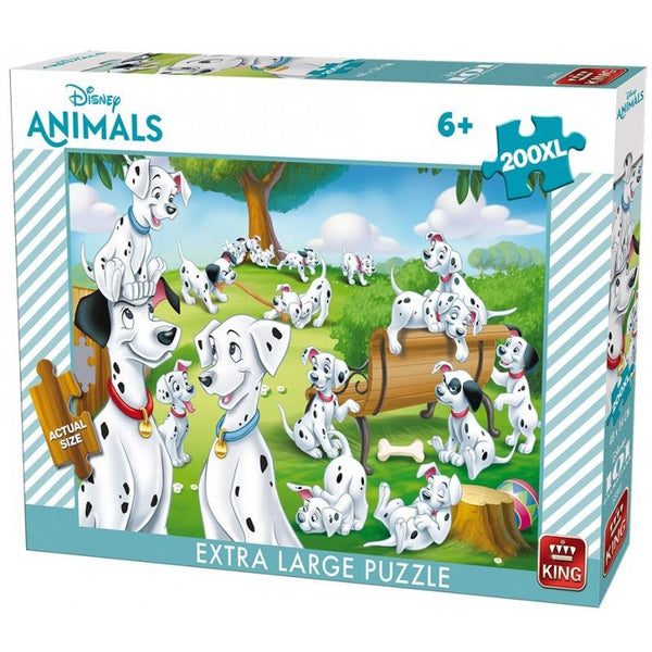 King Disney 101 Dalmatians Jigsaw Puzzle (200 XL Large Pieces)