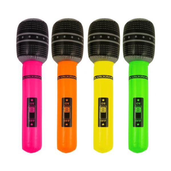 12 Inflatable Microphones 40cm