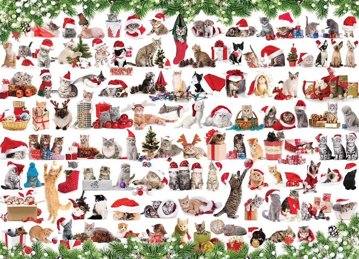 Eurographics Holiday Cats Jigsaw Puzzle (1000 Pieces)