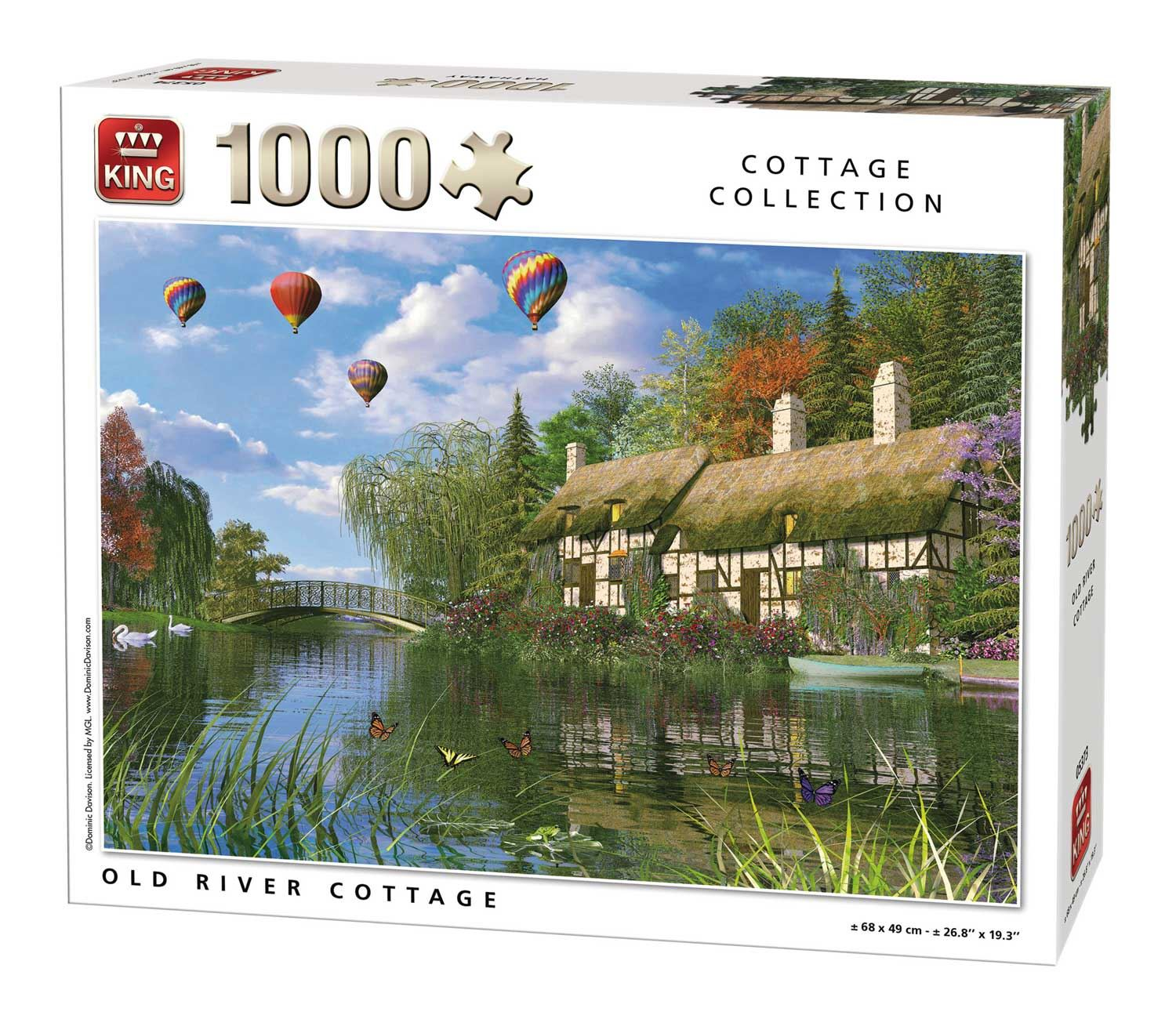 King Old River Cottage Jigsaw Puzzle (1000 Pieces)
