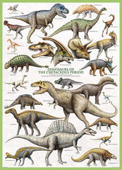 Eurographics Dinosaurs of the Cretaceous Period Jigsaw Puzzle (1000 Pieces)