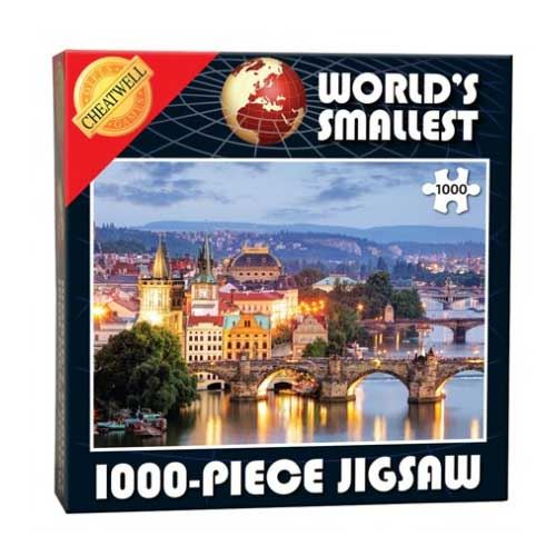World's Smallest 1000 Piece Jigsaw Puzzle - Prague Bridges (1000 Pieces)
