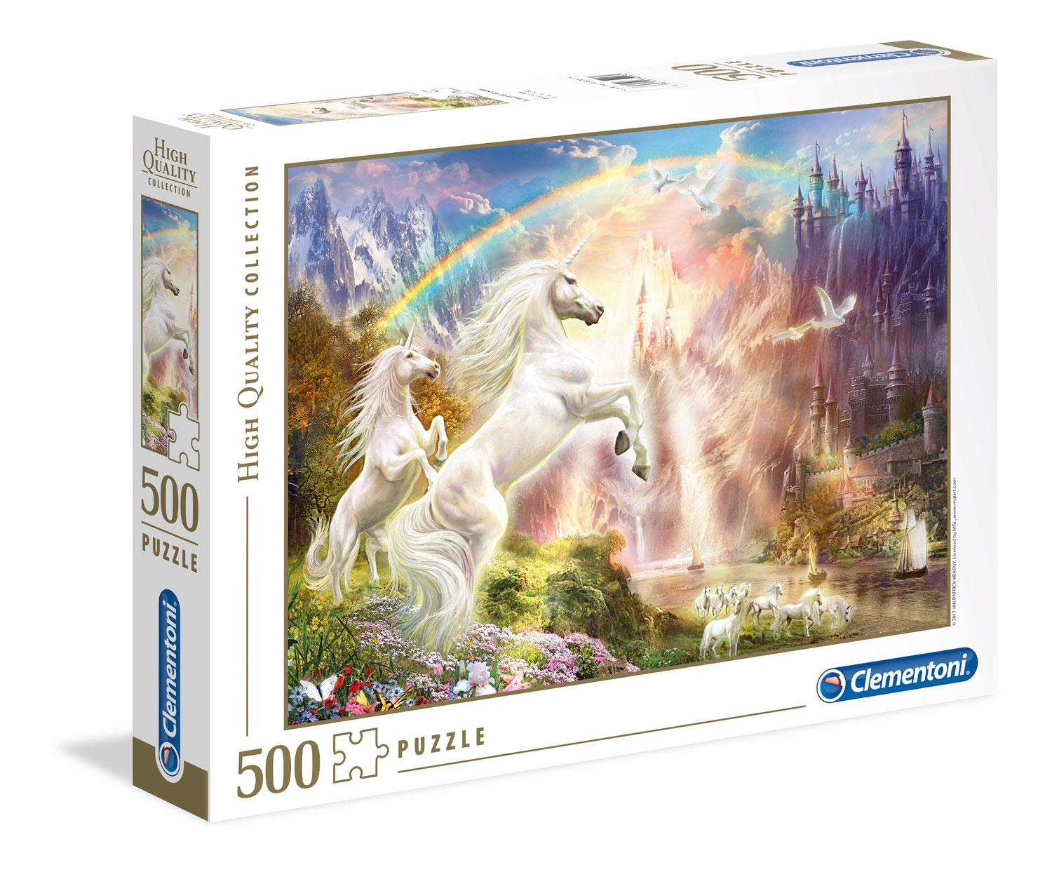 Clementoni Sunset Unicorns High Quality Jigsaw Puzzle (500 Pieces)