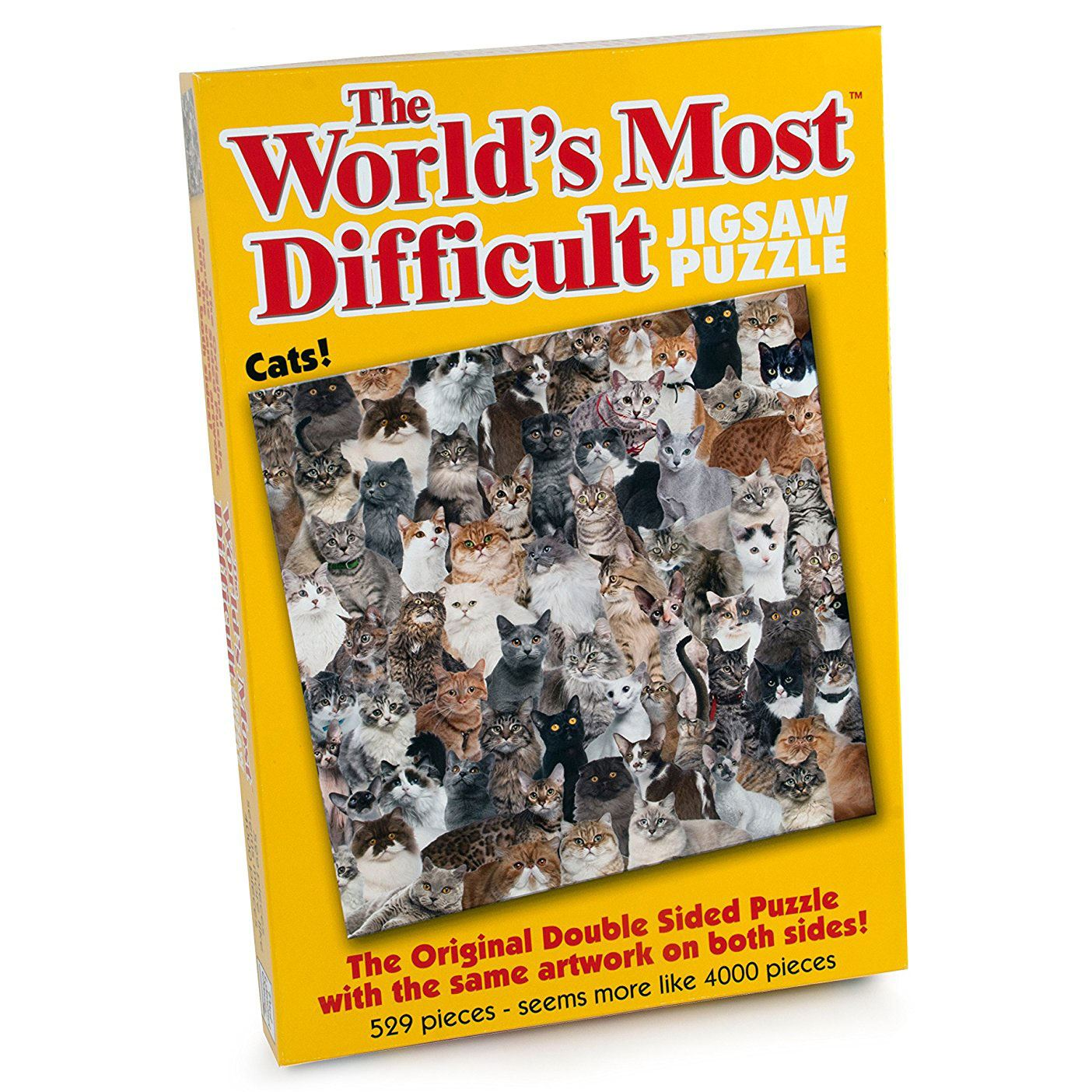World's Most Difficult Jigsaw Puzzle - Cats (529 Pieces)