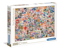 Clementoni Stamps High Quality Jigsaw Puzzle (1000 Pieces)