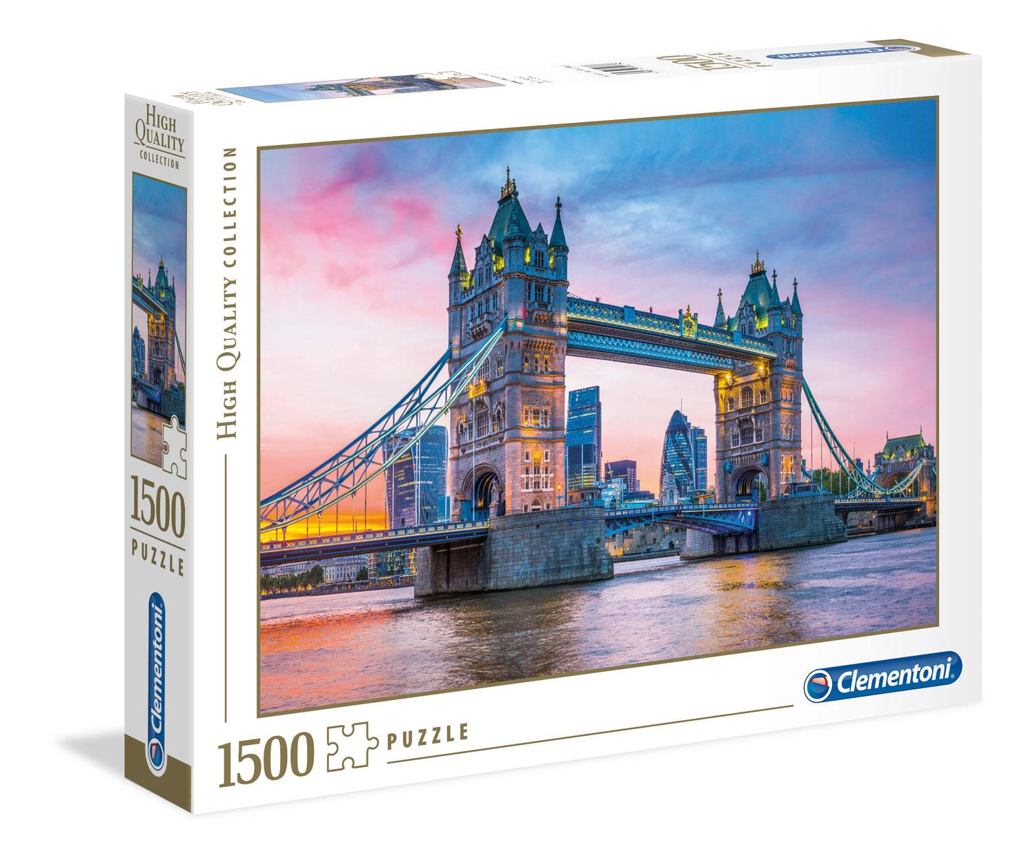 Clementoni High Quality Tower Bridge Sunset Jigsaw Puzzle (1500 Pieces)