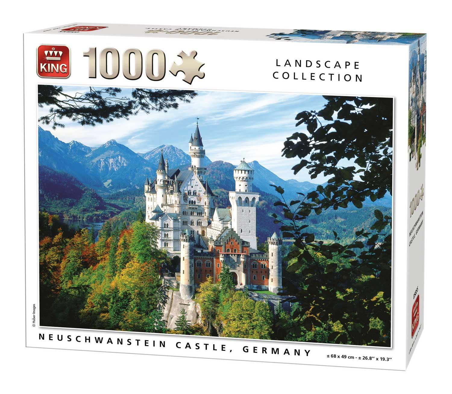 King Neuschwanstein Castle, Germany  Jigsaw Puzzle (1000 Pieces)