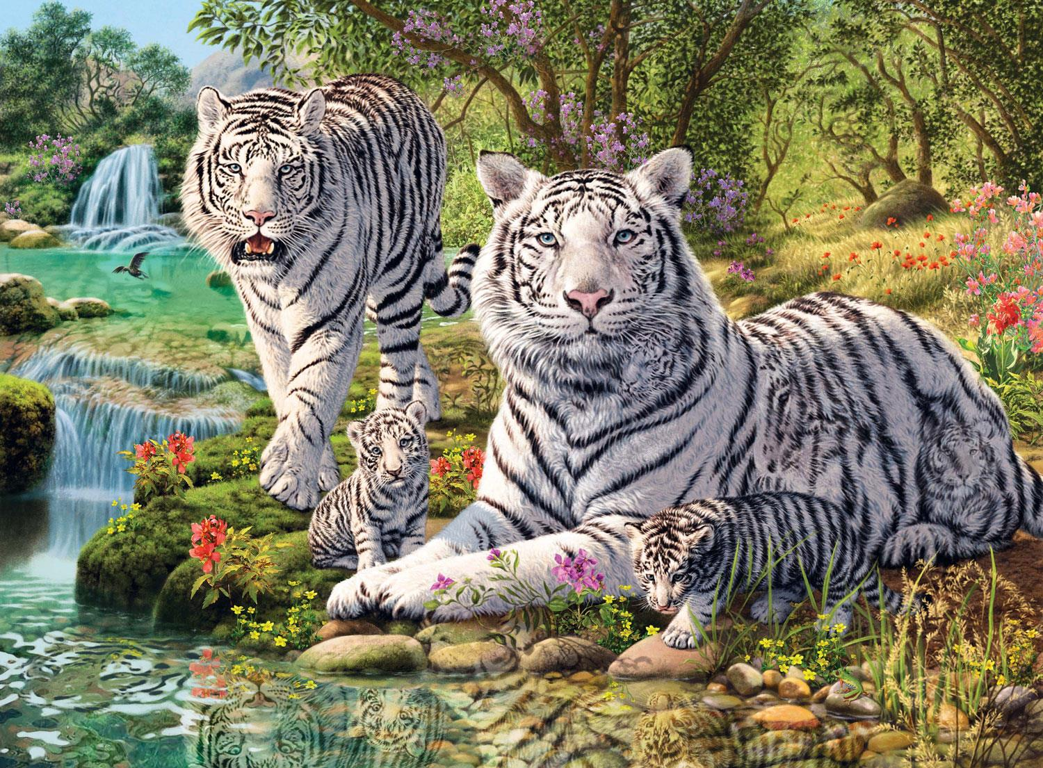 Ravensburger White Tigers Jigsaw Puzzle (500 Pieces)
