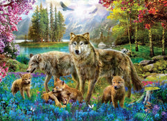 Eurographics Wolf Lake Fantasy Jigsaw Puzzle (500 XL Large Pieces)