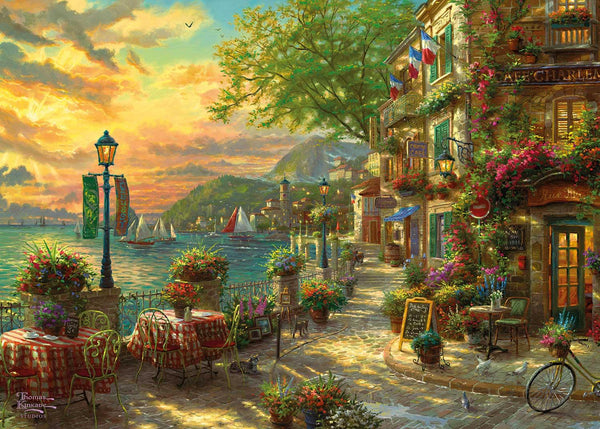 Gibsons Kinkade French Riviera Cafe Jigsaw Puzzle (1000 Pieces)